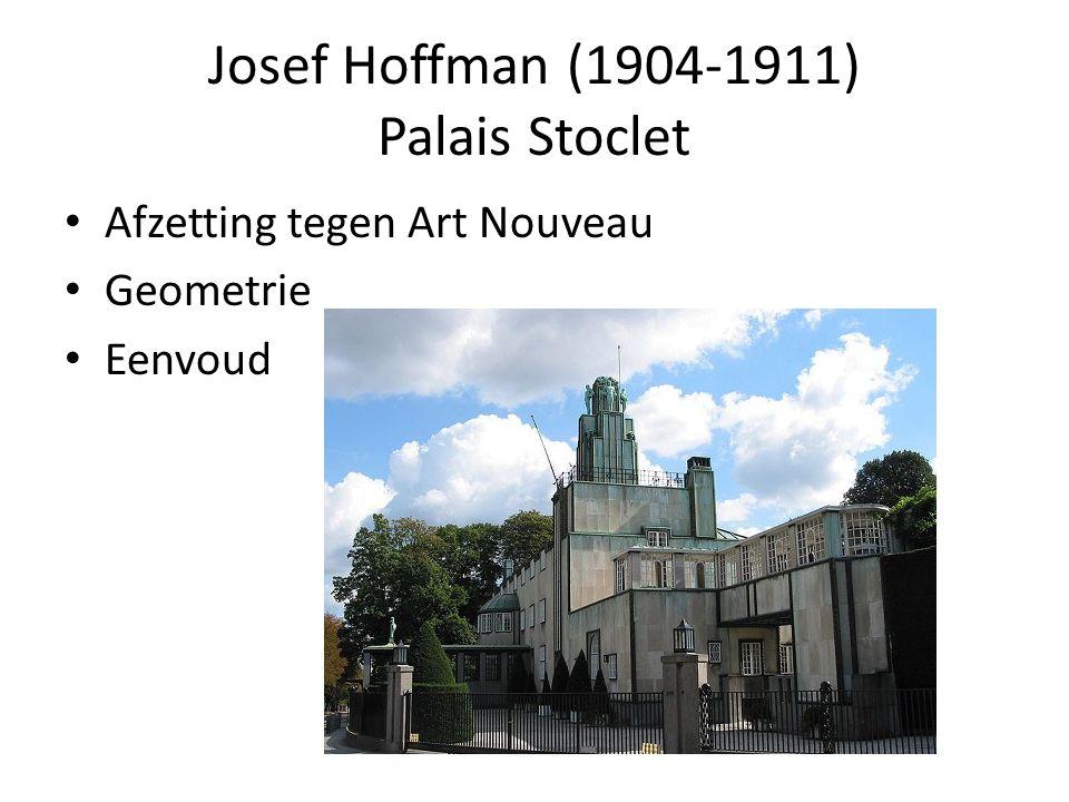 Josef Hoffman (1904-1911) Palais Stoclet Afzetting tegen Art Nouveau Geometrie Eenvoud