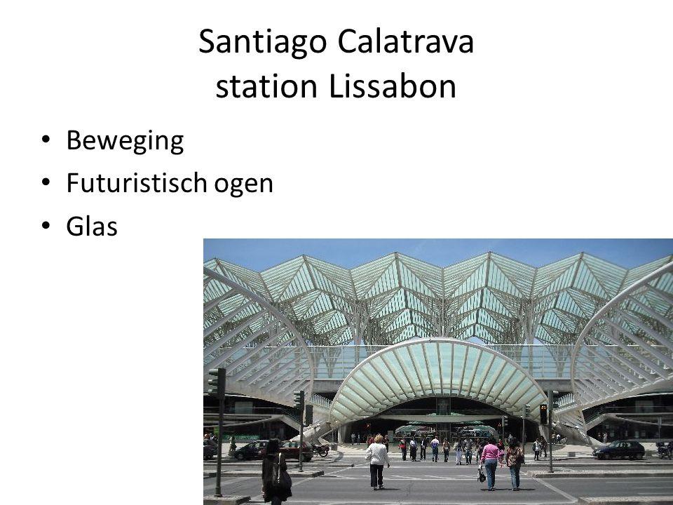 Santiago Calatrava station Lissabon Beweging Futuristisch ogen Glas