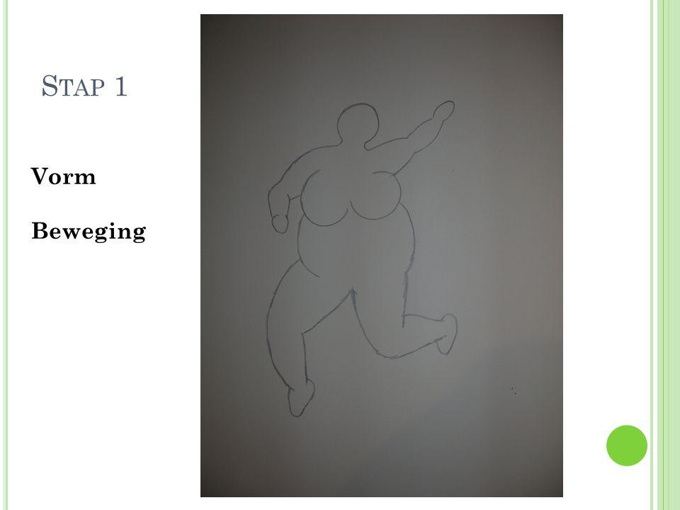 S TAP 2 Organische en Geometrisch e vormen Variatie in vormen Teken niet te klein