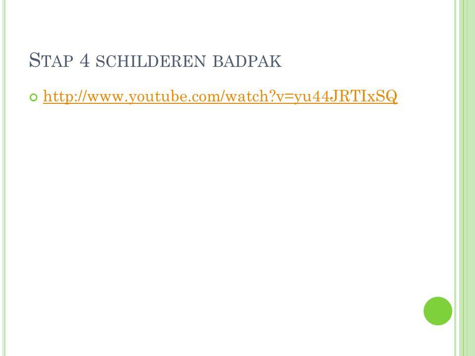 S TAP 4 SCHILDEREN BADPAK http://www.youtube.com/watch?v=yu44JRTIxSQ