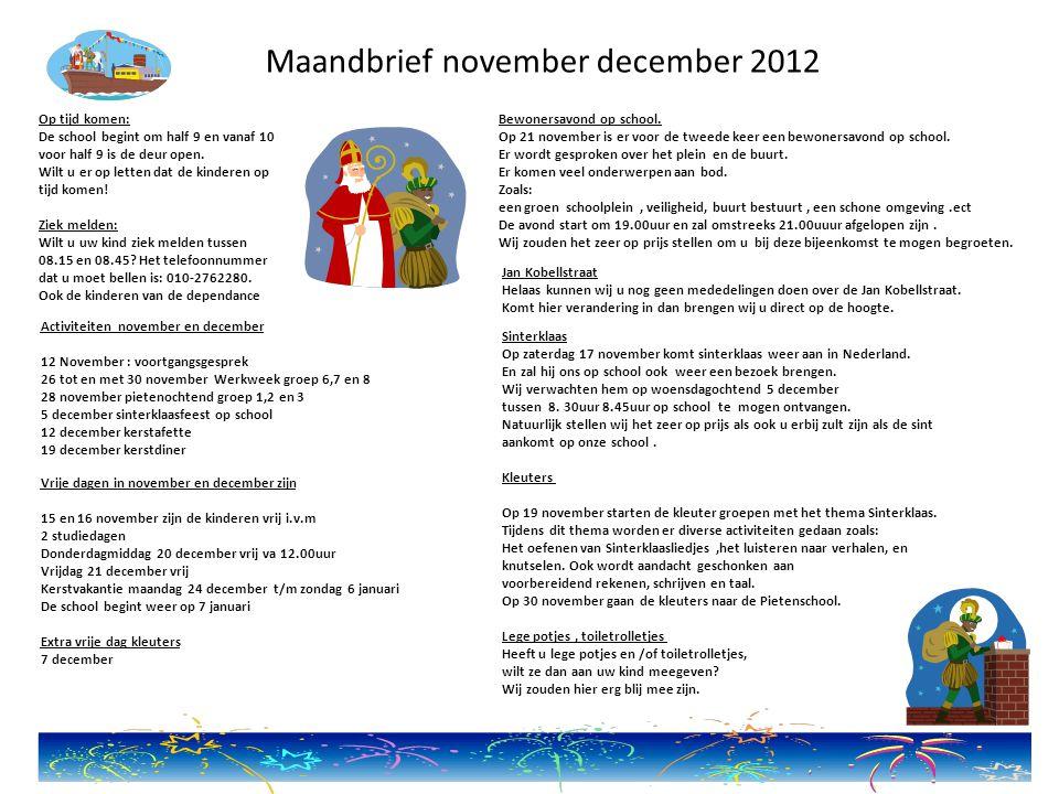 OTV Volgende week (maandag 12 november) willen we starten met OTV.