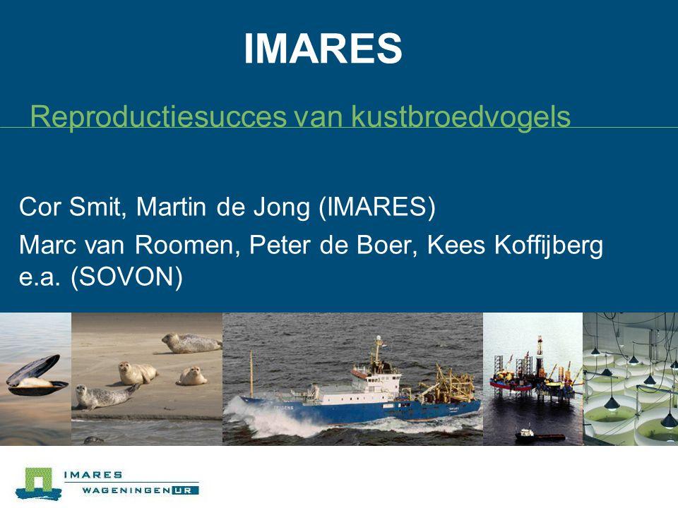 IMARES Reproductiesucces van kustbroedvogels Cor Smit, Martin de Jong (IMARES) Marc van Roomen, Peter de Boer, Kees Koffijberg e.a. (SOVON)