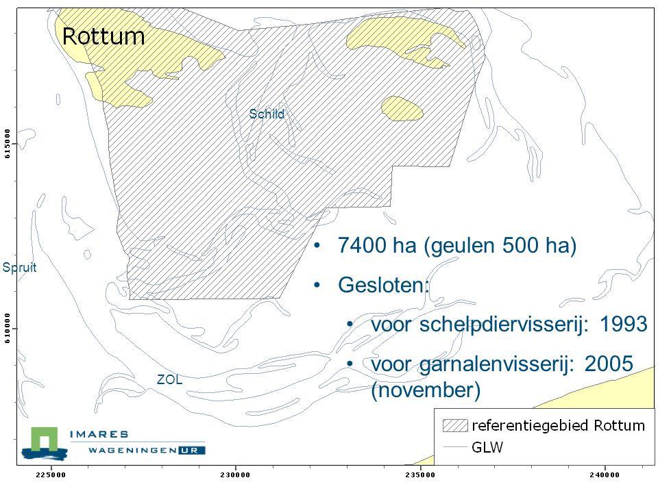 Monitoringsprogramma: Doel: ontwikkeling waddenecosysteem met minimale menselijke invloed Programma: Structuur: 2003 en 2011.
