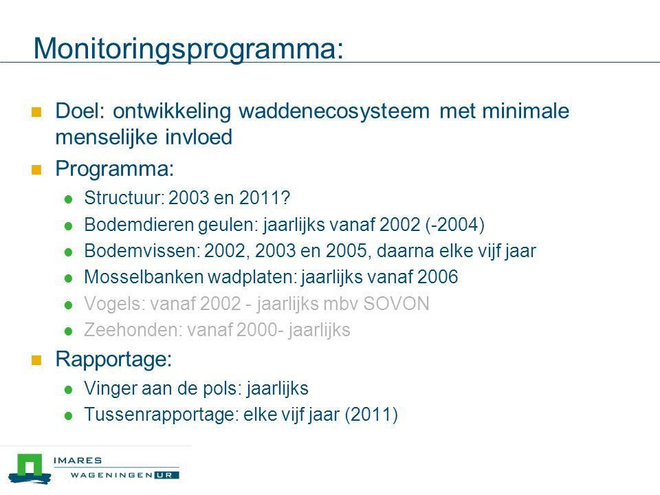 Resultaten 2010 Vogels 2000-2010 aantallen broedvogels en wadvogels