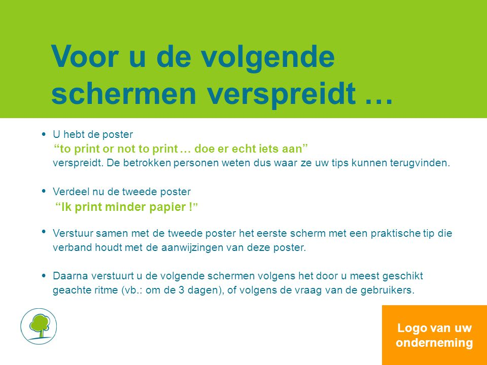 Een spaarzame lay-out .