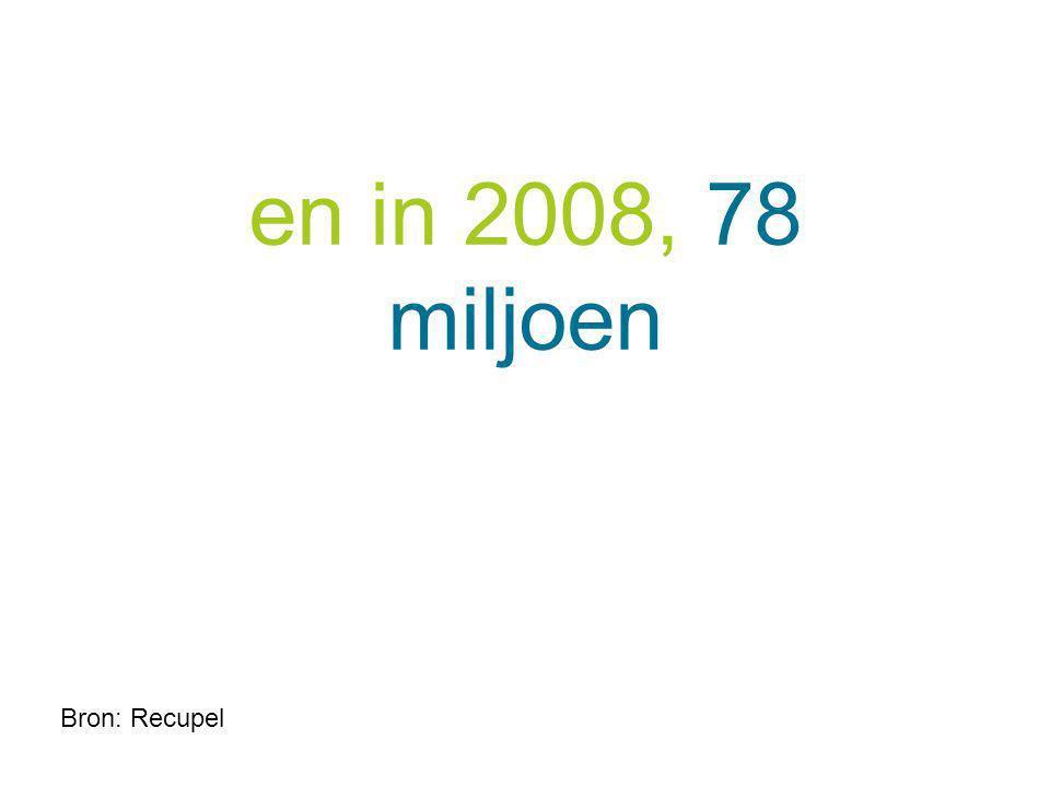 en in 2008, 78 miljoen
