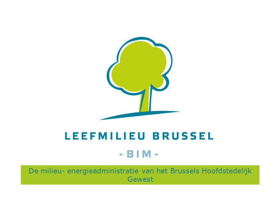 De milieu- energieadministratie van het Brussels Hoofdstedelijk Gewest