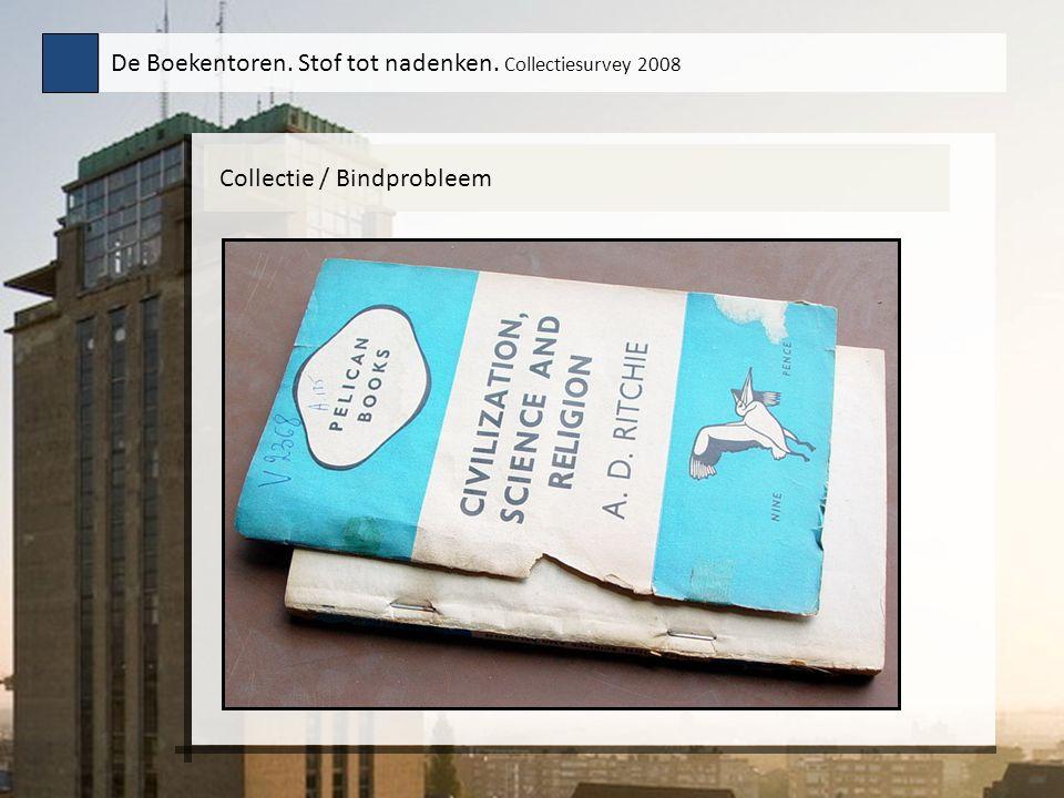 Collectie / Bindprobleem De Boekentoren. Stof tot nadenken. Collectiesurvey 2008