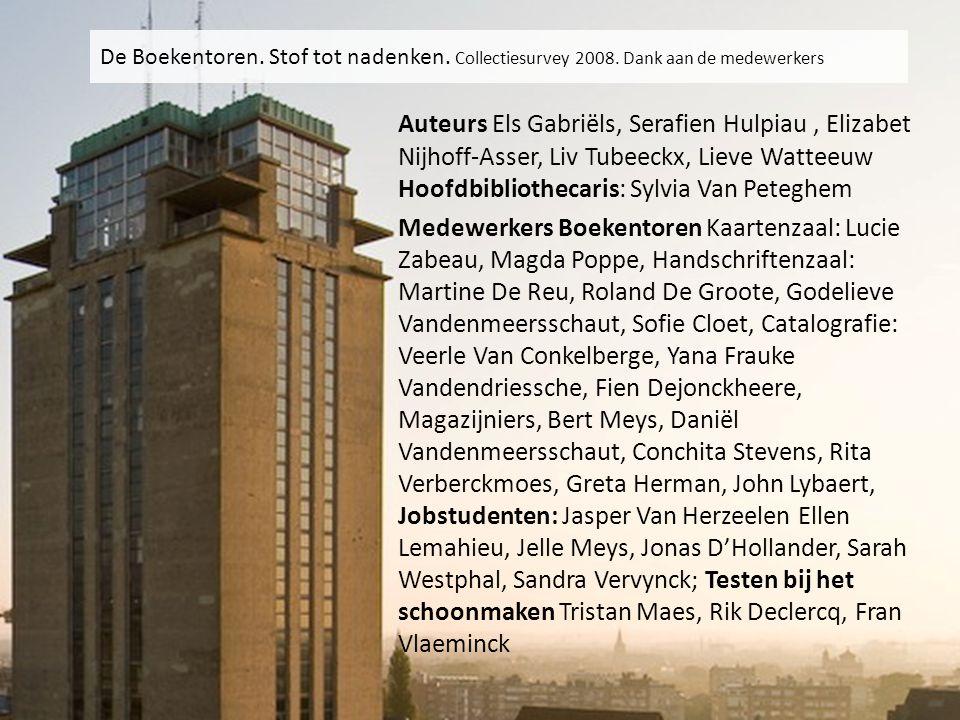 Auteurs Els Gabriëls, Serafien Hulpiau, Elizabet Nijhoff-Asser, Liv Tubeeckx, Lieve Watteeuw Hoofdbibliothecaris: Sylvia Van Peteghem Medewerkers Boek