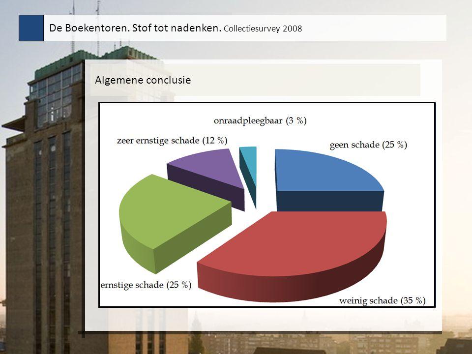 Algemene conclusie De Boekentoren. Stof tot nadenken. Collectiesurvey 2008