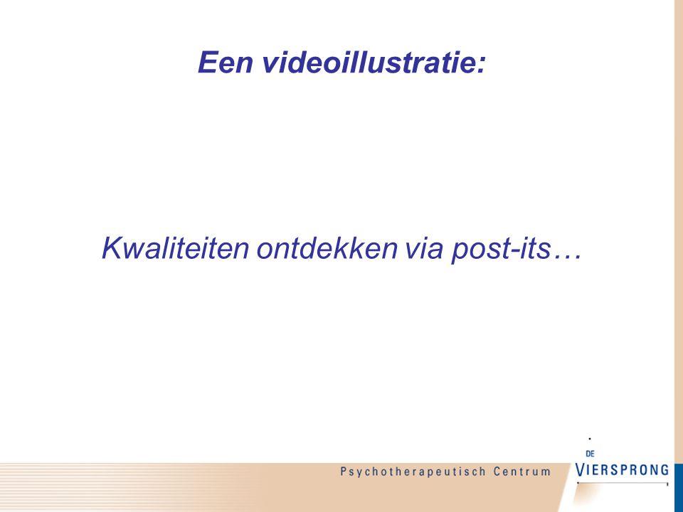 Een videoillustratie: Kwaliteiten ontdekken via post-its…