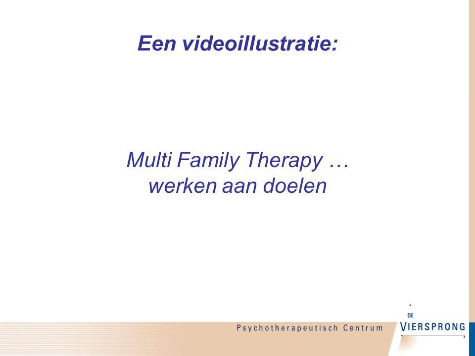 Een videoillustratie: Multi Family Therapy … werken aan doelen
