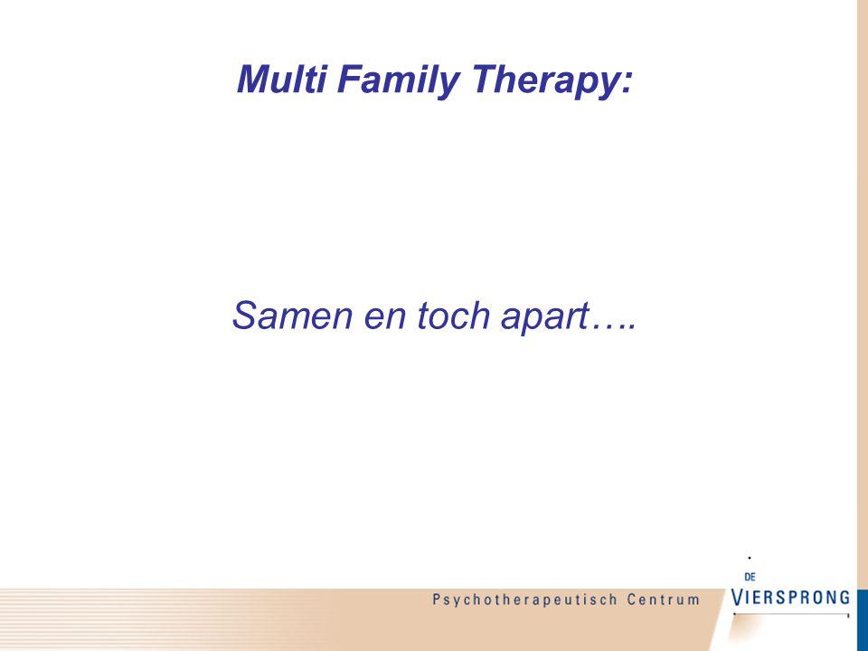 Multi Family Therapy: Samen en toch apart….