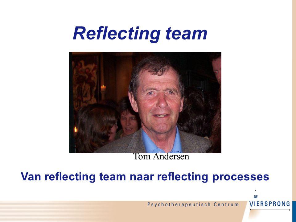 Reflecting team Tom Andersen Van reflecting team naar reflecting processes