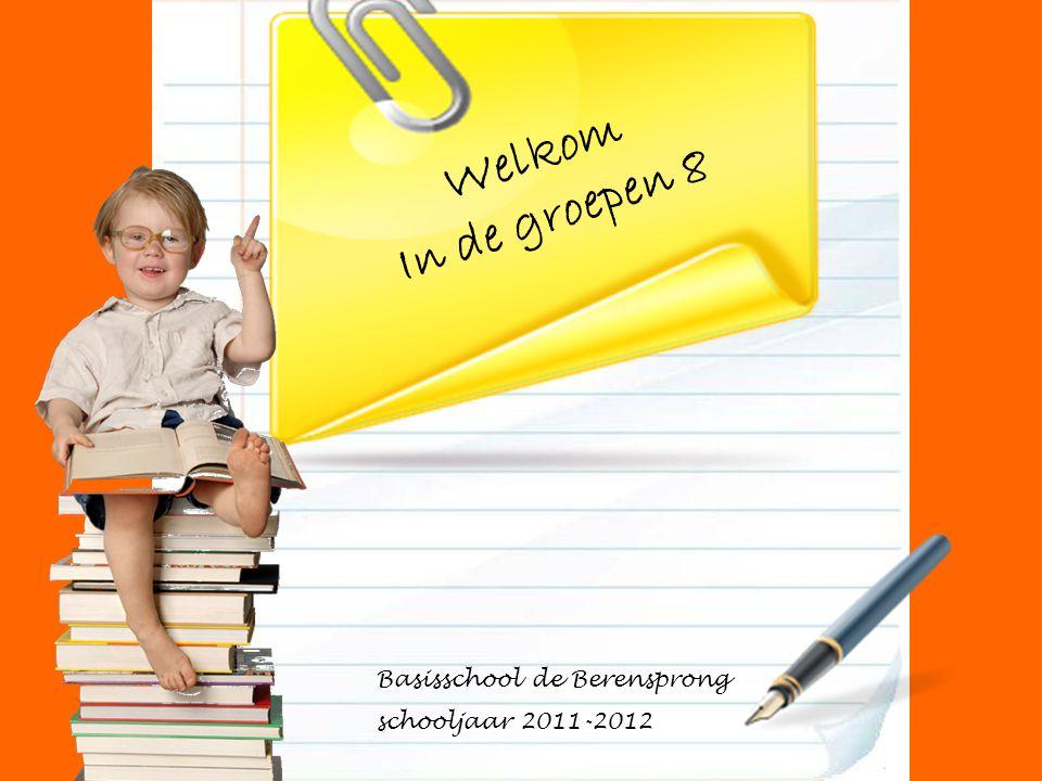 Welkom In de groepen 8 Basisschool de Berensprong schooljaar 2011-2012