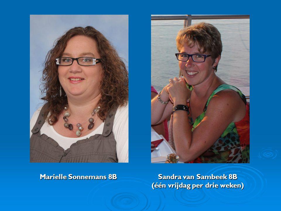 Marielle Sonnemans 8B Sandra van Sambeek 8B (één vrijdag per drie weken)