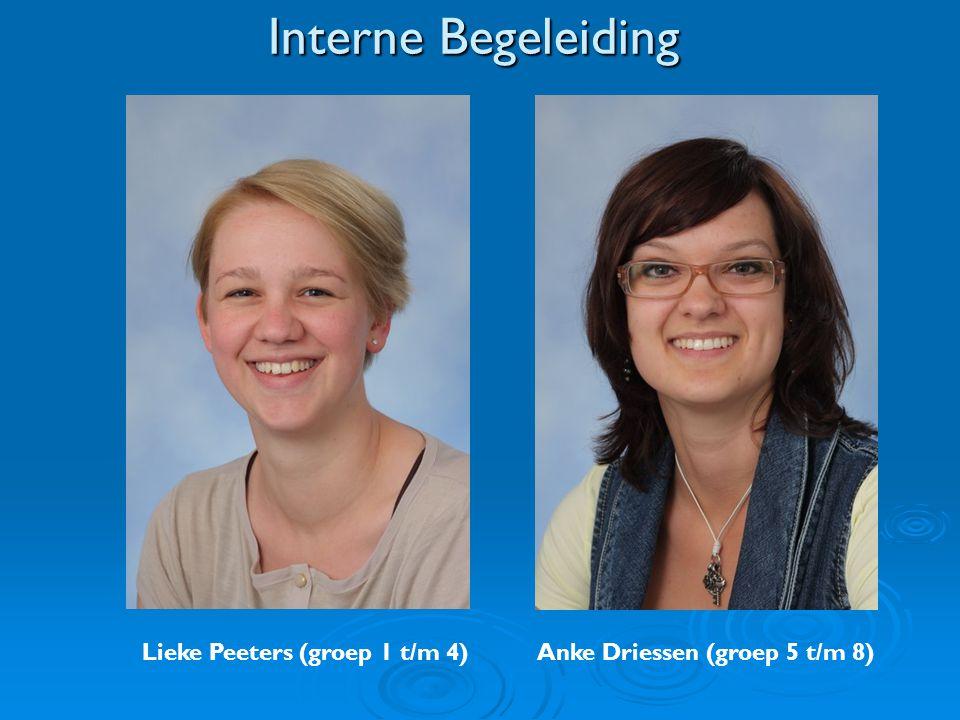 Interne Begeleiding Lieke Peeters (groep 1 t/m 4) Anke Driessen (groep 5 t/m 8)