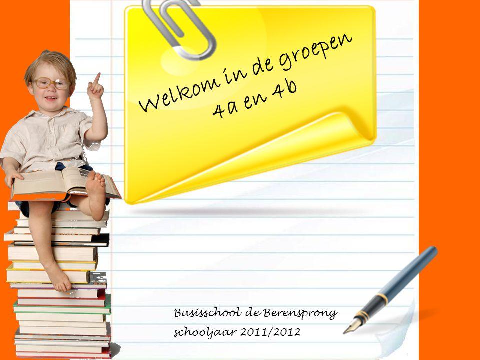 Welkom in de groepen 4a en 4b Basisschool de Berensprong schooljaar 2011/2012