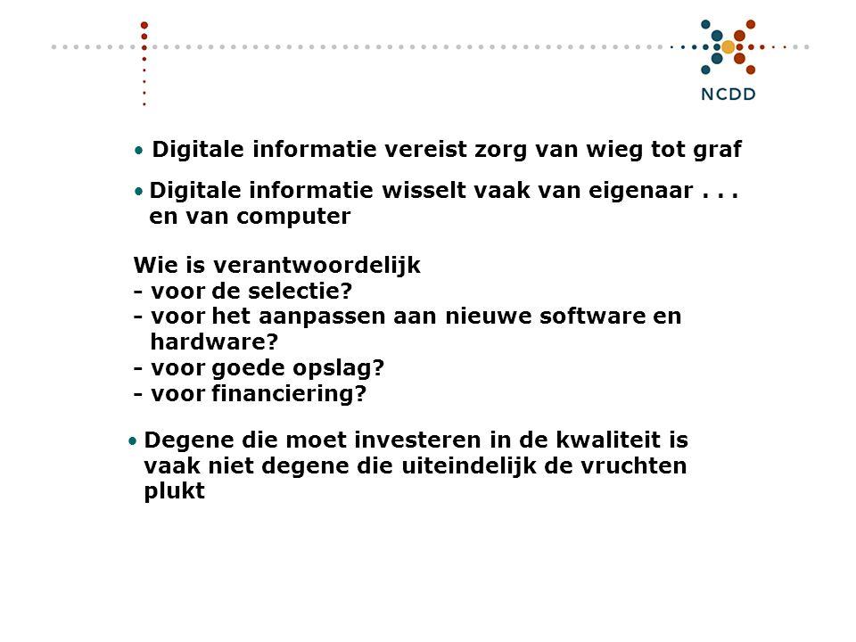 Digitale duurzaamheid - INHOLLAND 17 juni 2008 5 De zwakste schakel...
