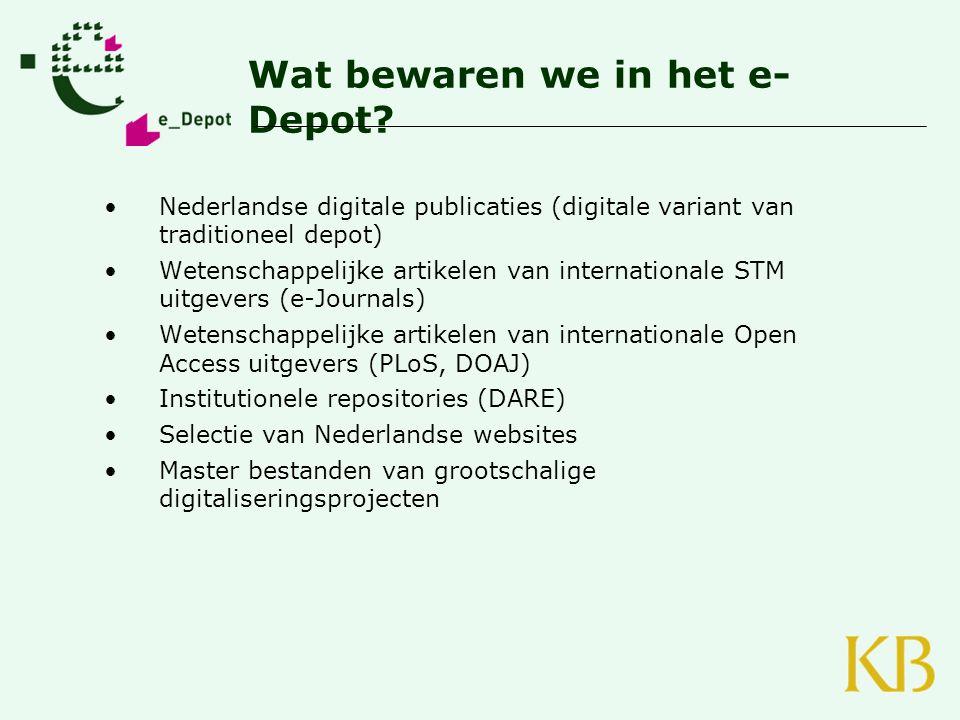 www.kb.nl/e-depot hilde.vanwijngaarden@kb.nl THANK YOU