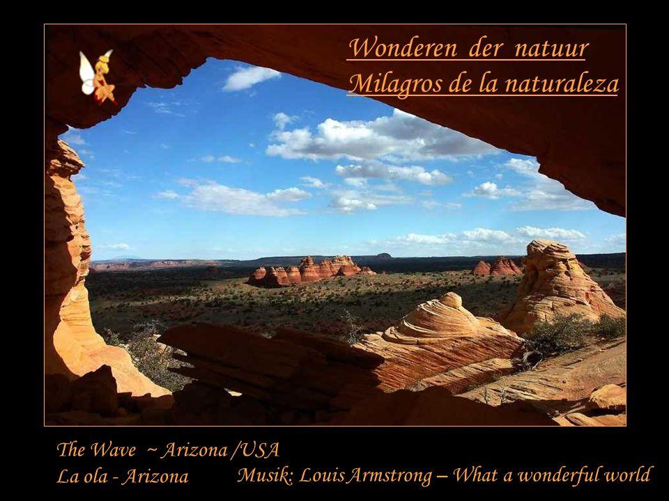 Wonderen der natuur Milagros de la naturaleza The Wave ~ Arizona /USA La ola - Arizona Musik: Louis Armstrong – What a wonderful world