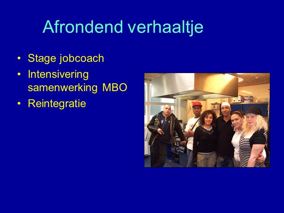 Afrondend verhaaltje Stage jobcoach Intensivering samenwerking MBO Reintegratie