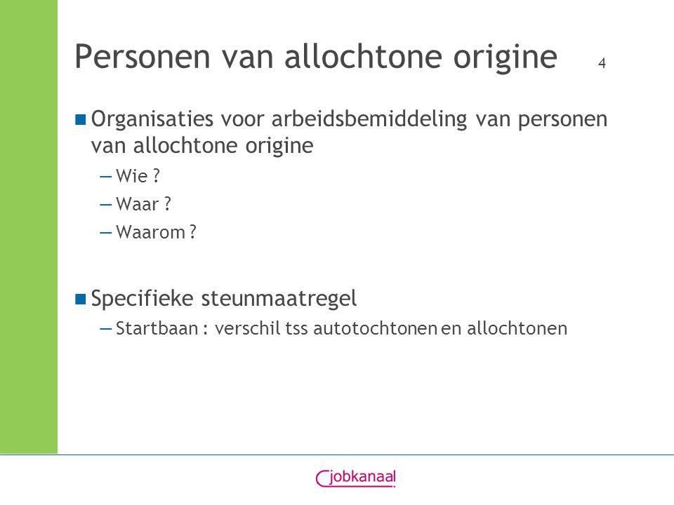 Personen van allochtone origine 4 Organisaties voor arbeidsbemiddeling van personen van allochtone origine —Wie .