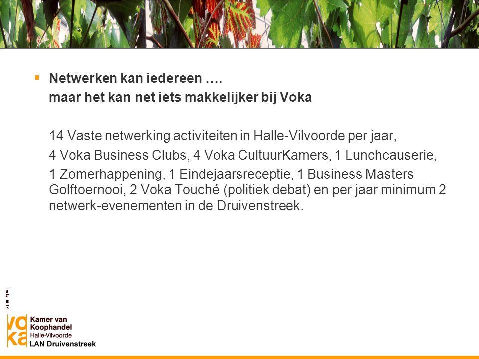 Voka titel 9 Voka LAN Druivenstreek  Netwerken kan iedereen …. maar het kan net iets makkelijker bij Voka 14 Vaste netwerking activiteiten in Halle-V