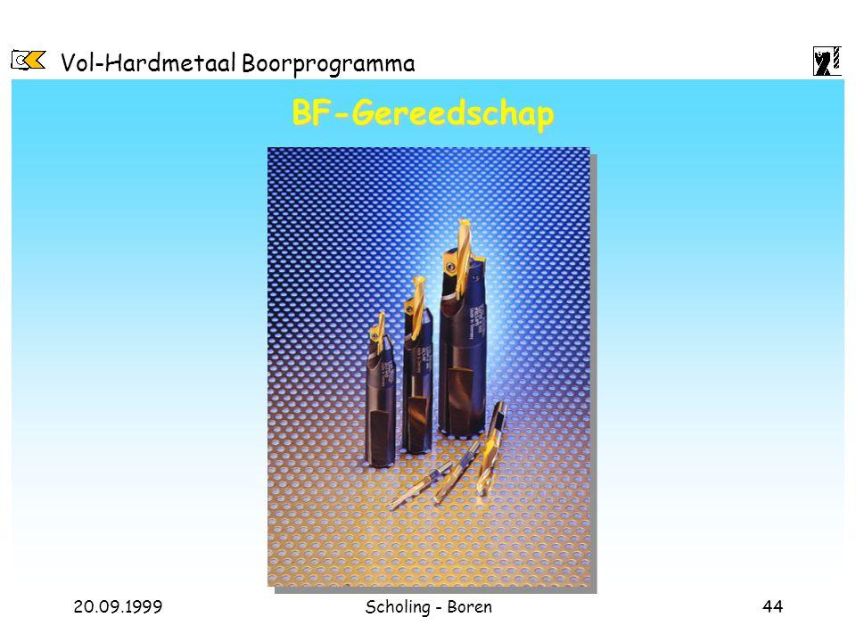 Vol-Hardmetaal Boorprogramma 20.09.1999Scholing - Boren44 BF-Gereedschap