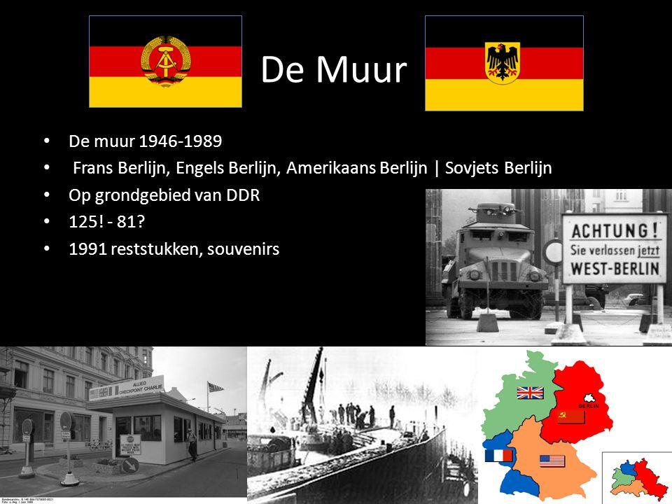 De Muur De muur 1946-1989 Frans Berlijn, Engels Berlijn, Amerikaans Berlijn | Sovjets Berlijn Op grondgebied van DDR 125.