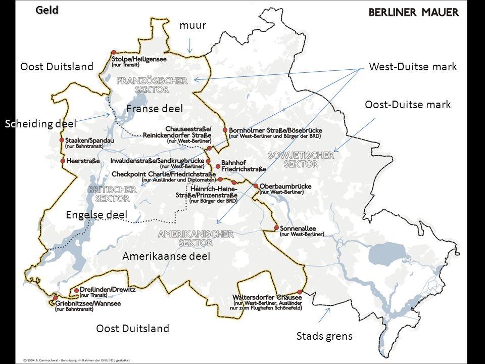 De Muur De muur 1946-1989 Frans Berlijn, Engels Berlijn, Amerikaans Berlijn | Sovjets Berlijn Op grondgebied van DDR 125! - 81? 1991 reststukken, souv