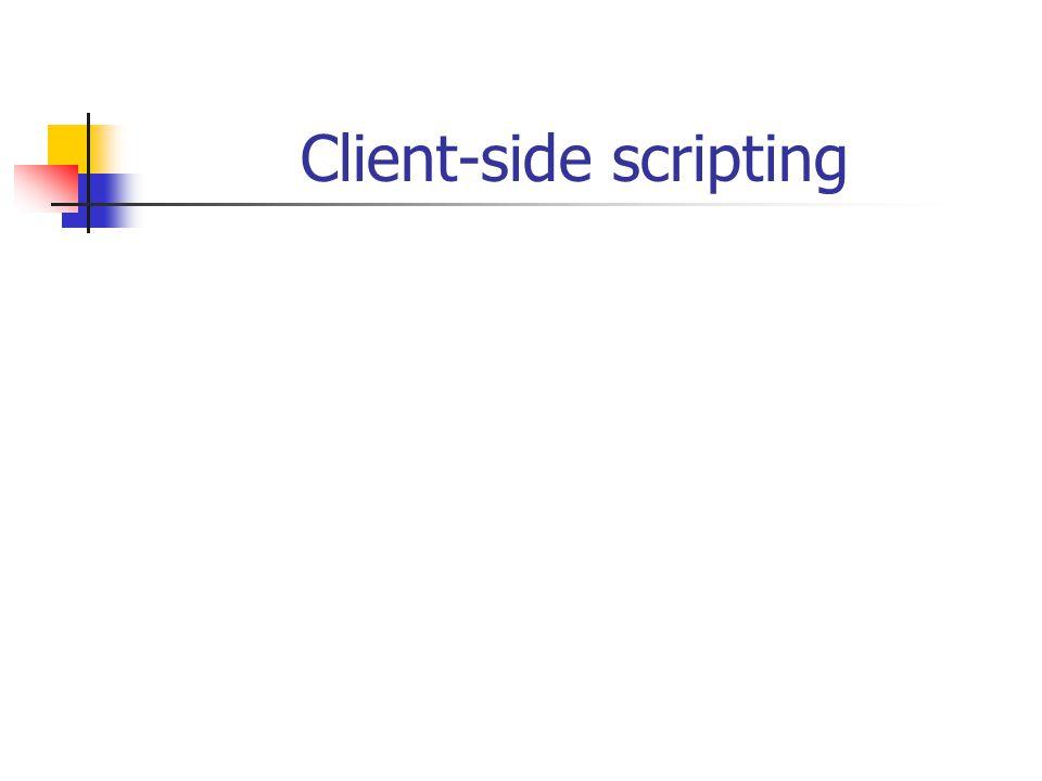 1.Scripting in webpagina's 1.