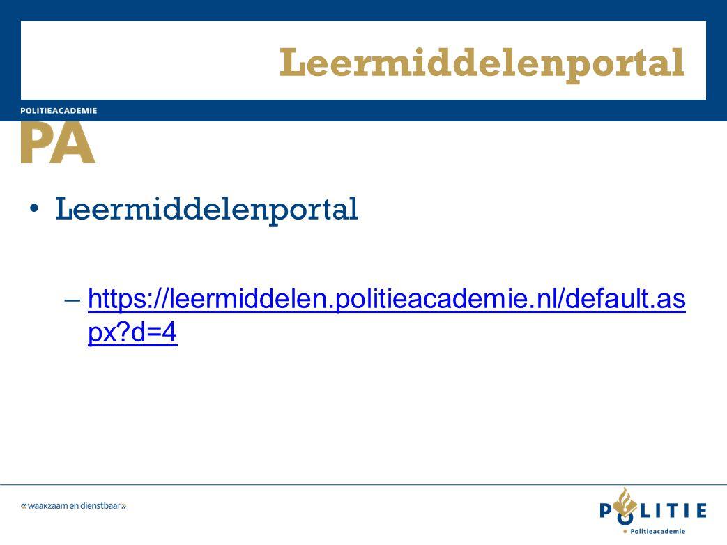 Leermiddelenportal –https://leermiddelen.politieacademie.nl/default.as px?d=4https://leermiddelen.politieacademie.nl/default.as px?d=4