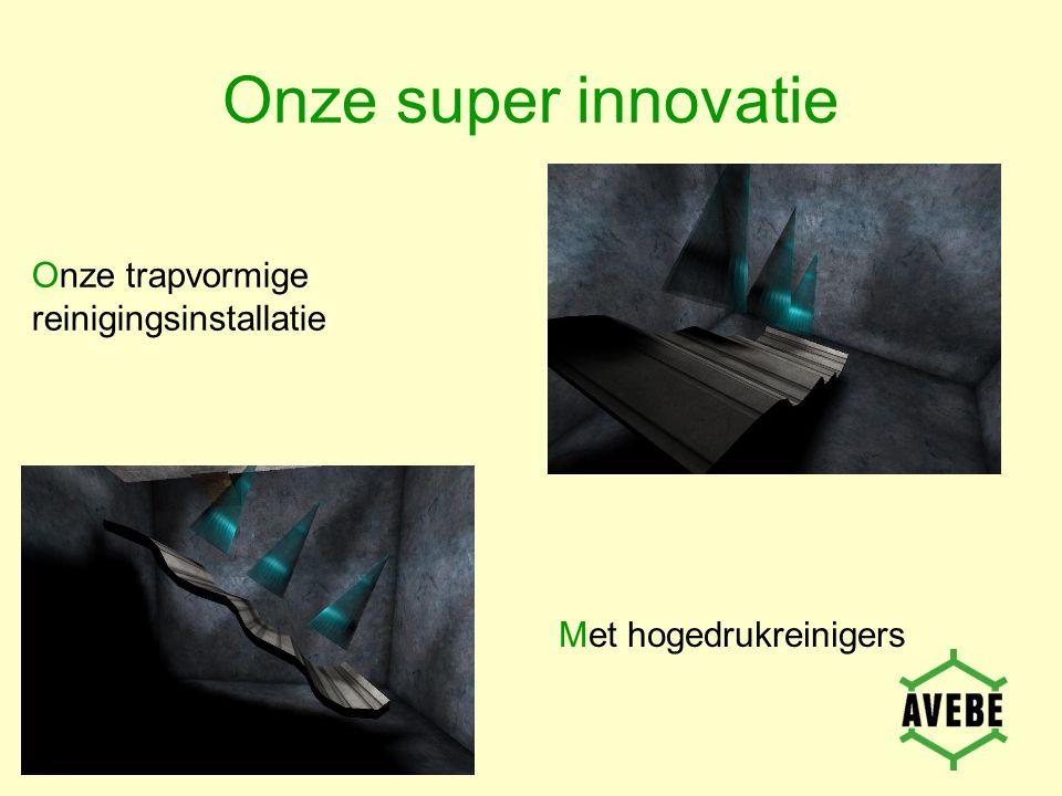 Onze super innovatie Onze trapvormige reinigingsinstallatie Met hogedrukreinigers