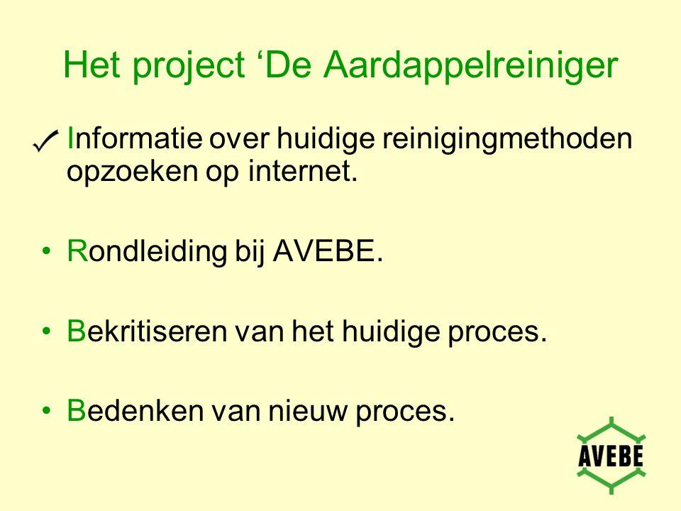 Het project 'De Aardappelreiniger Informatie over huidige reinigingmethoden opzoeken op internet.