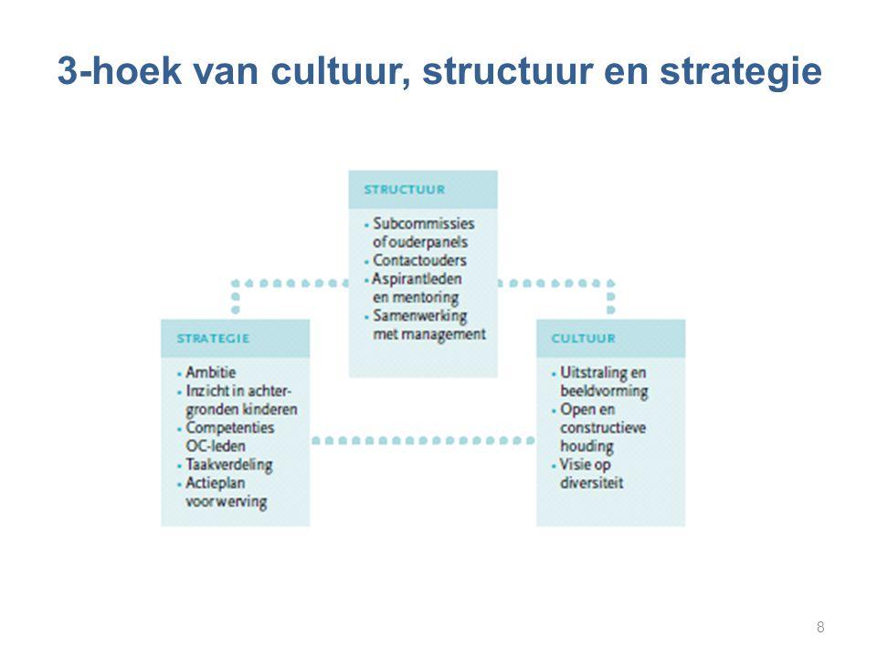 3-hoek van cultuur, structuur en strategie 8