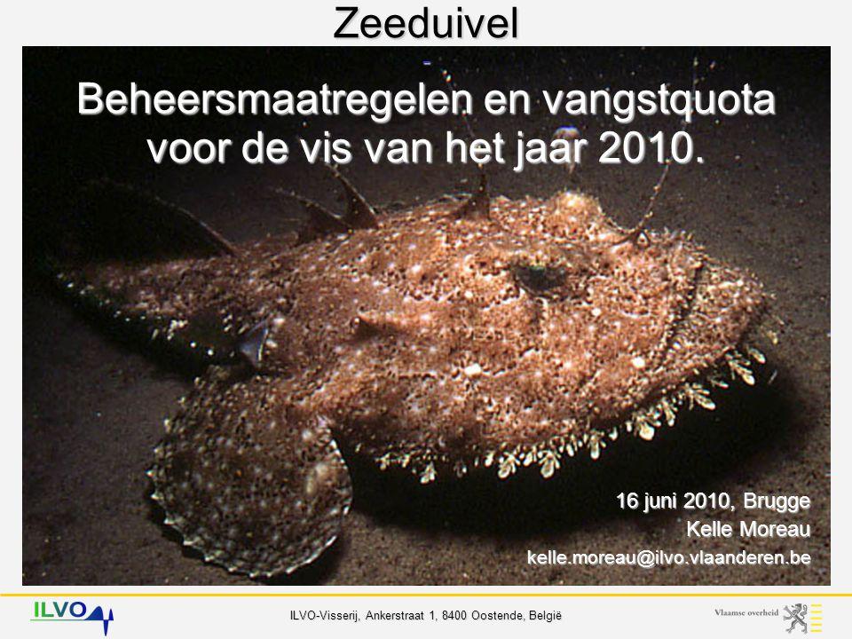 ILVO-Visserij, Ankerstraat 1, 8400 Oostende, België Zeeduivel - beheer Belgische Quota