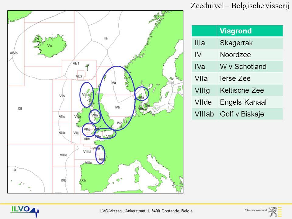 ILVO-Visserij, Ankerstraat 1, 8400 Oostende, België Belgische aanvoer gem.