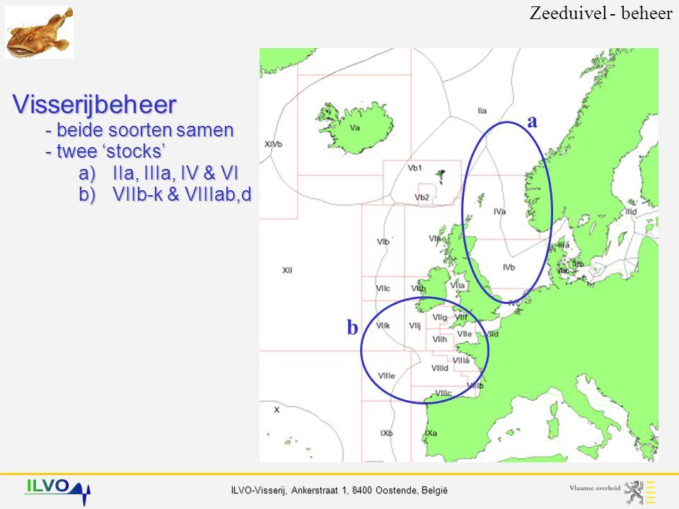 ILVO-Visserij, Ankerstraat 1, 8400 Oostende, België Referentiewaarden Zeeduivel - beheer Volledig intact voortplantings-potentieel Gereduceerdvoortplantings-potentieel Risico op verminderdvoortplantings-potentieel SSB B lim B pa