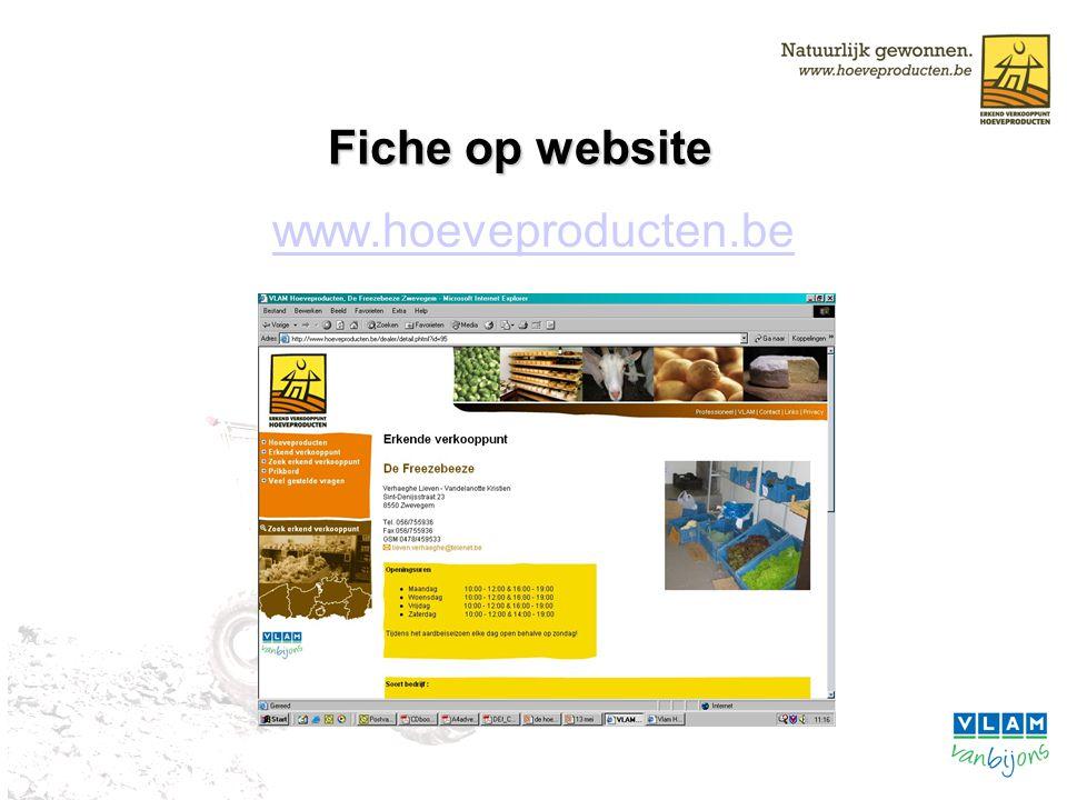 Fiche op website www.hoeveproducten.be