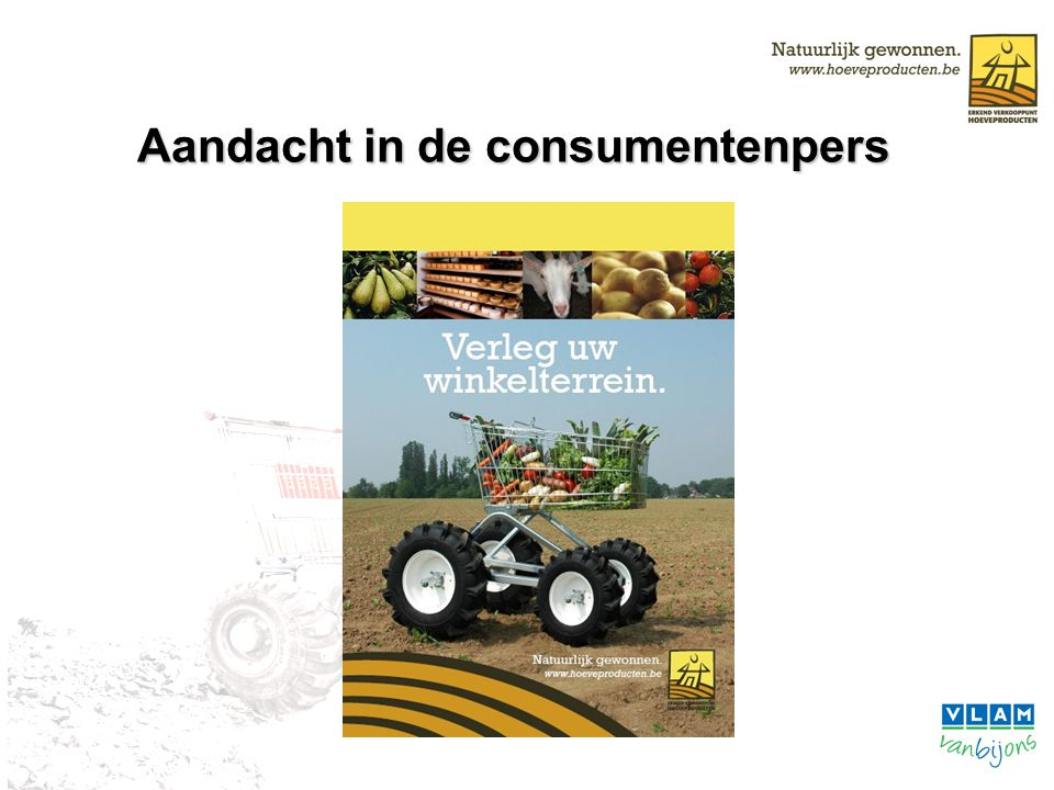 Aandacht in de consumentenpers