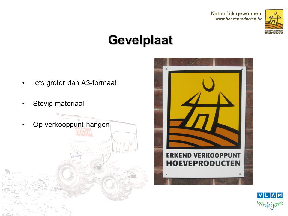 Promotiemateriaal Hoeveproducent krijgt cd-rom met promotiemateriaal: Label Stickers Advertentie Gepersonaliseerde fiche