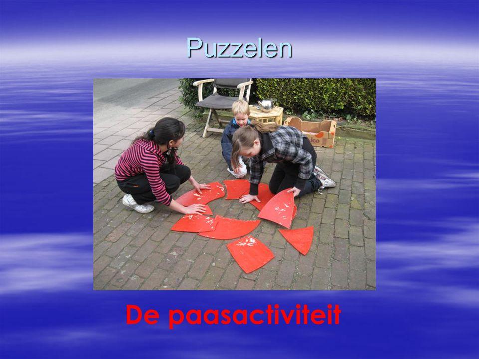 Puzzelen De paasactiviteit
