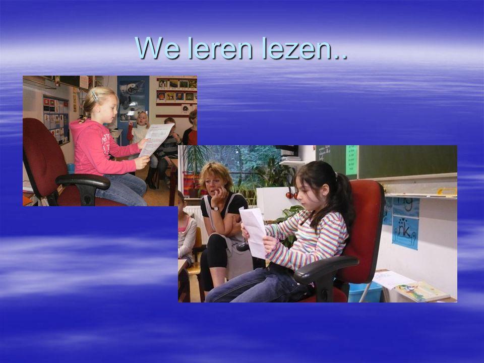 We leren lezen..