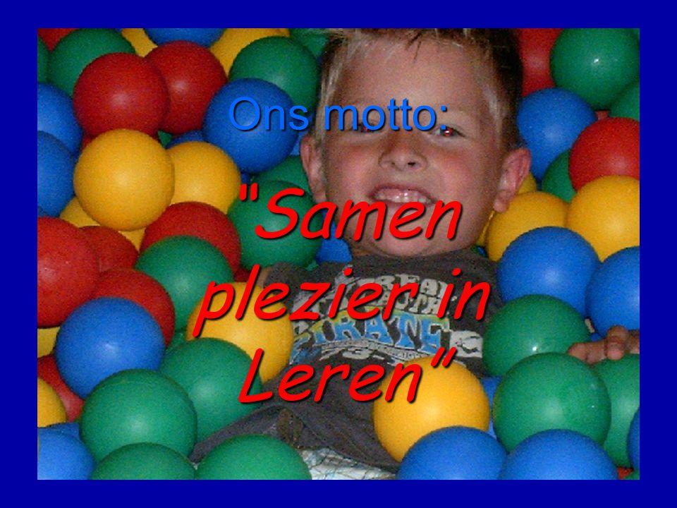 Ons motto: Samen plezier in Leren