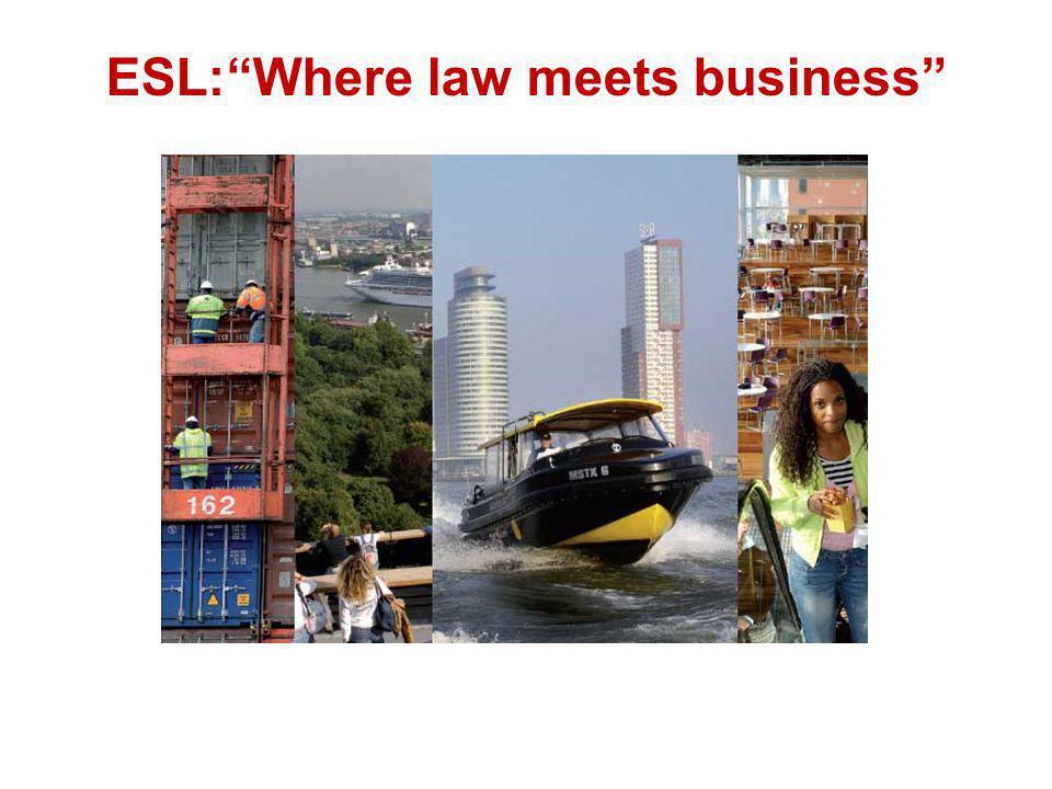 "ESL:""Where law meets business"""