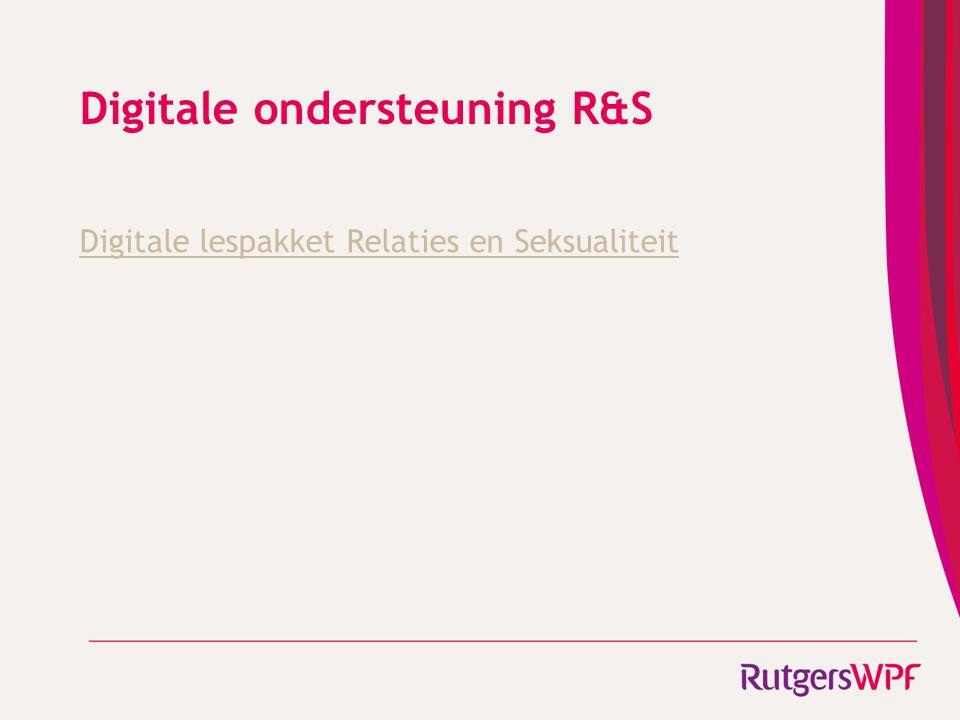 Digitale ondersteuning R&S Digitale lespakket Relaties en Seksualiteit