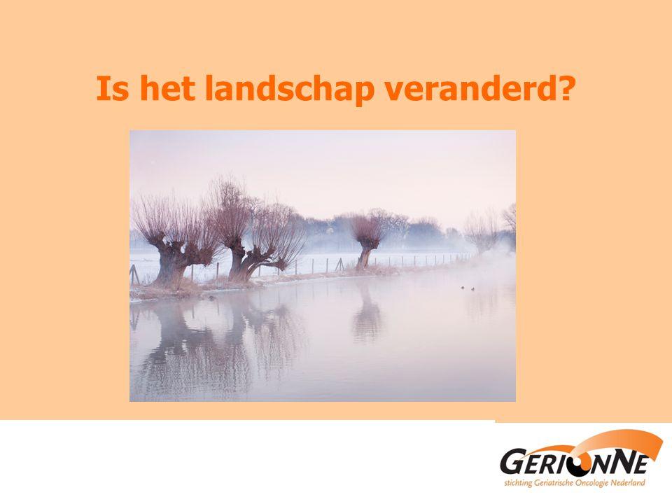 Is het landschap veranderd?