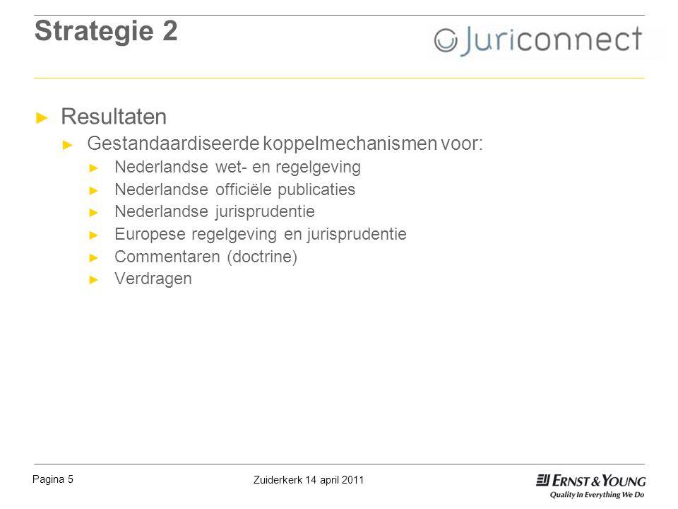 Strategie 2 ► Resultaten ► Gestandaardiseerde koppelmechanismen voor: ► Nederlandse wet- en regelgeving ► Nederlandse officiële publicaties ► Nederlan