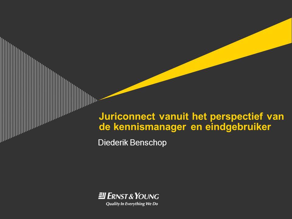 Juriconnect vanuit het perspectief van de kennismanager en eindgebruiker Diederik Benschop